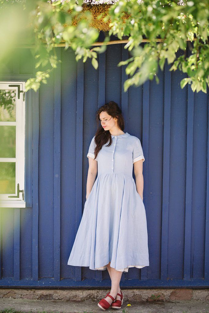 Classic Dress, Short sleeves, Forget-me-not Skyblue