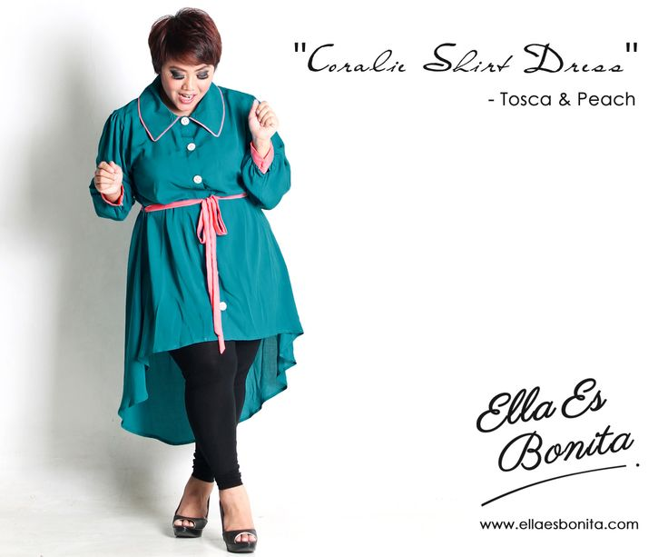 Coralie Shirt Dress - This dress features high quality chiffon with furing which specially designed for sophisticated curvy women originally made by Indonesian Designer & Local Brand: Ella Es Bonita. Available at www.ellaesbonita.com