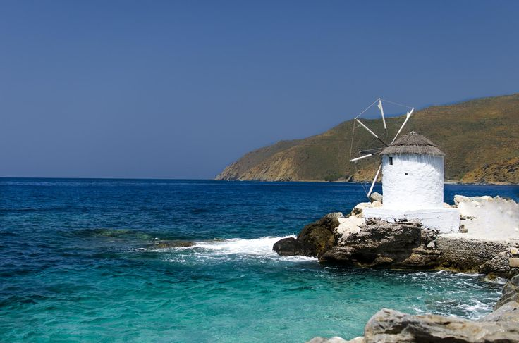 Old windmill, Amorgos, Greece