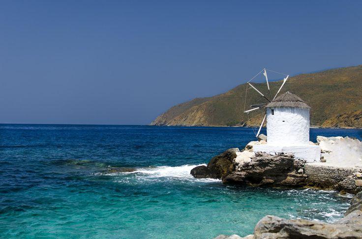 Old windmill, Amorgos, Greece