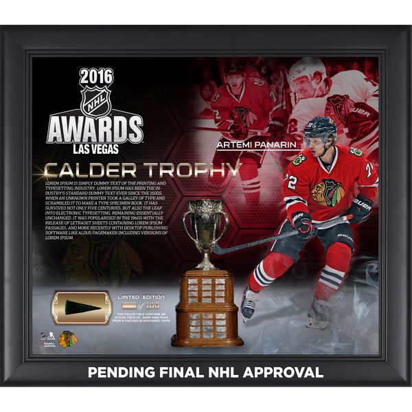 "Artemi Panarin Chicago Blackhawks Fanatics Authentic Framed 15"" x 17"" 2016 Calder Memorial Trophy Winner Collage with a Piece of Game-Used Puck - Limited Edition of 100 - $89.99"