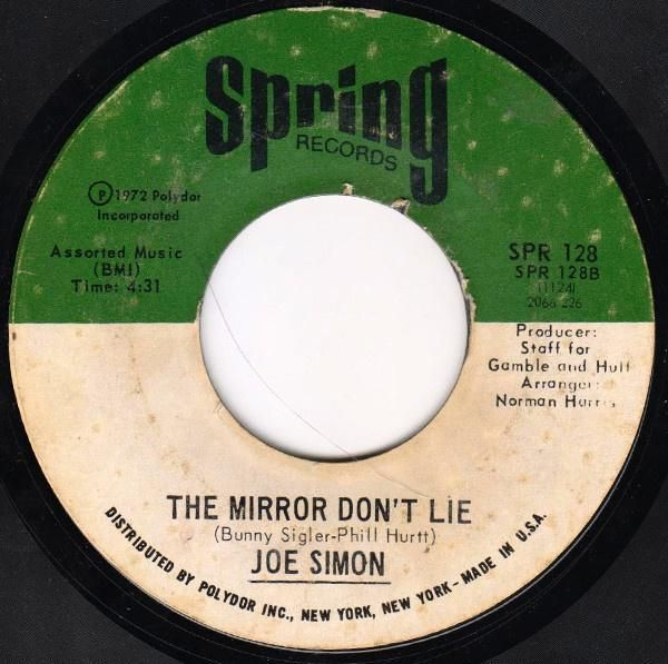 Joe Simon * Power of Love / The Mirror Don't Lie 7""