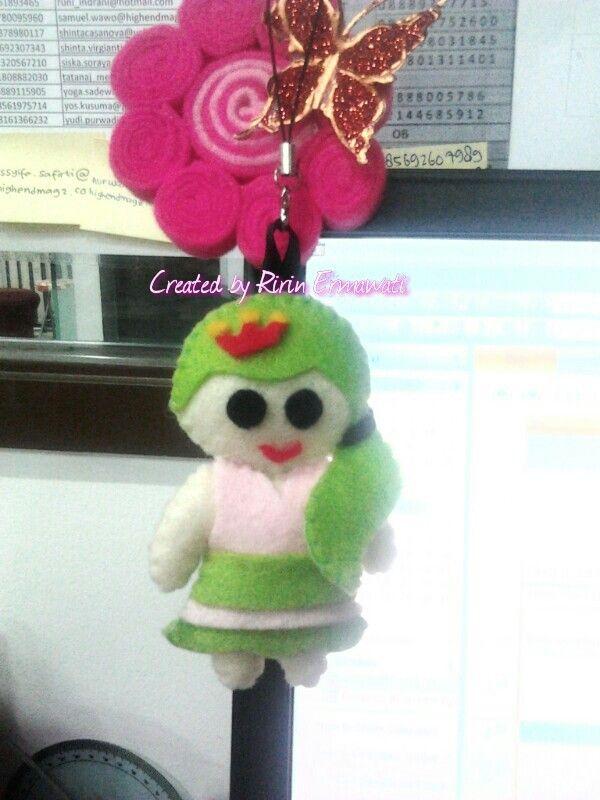 Little doll - cute green little girl