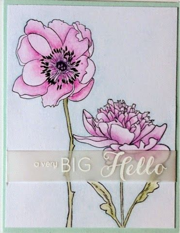 My Love,My Heart, My Art: Having fun with the Tim Holtz/Stampers Anonymous Flower Garden stamps