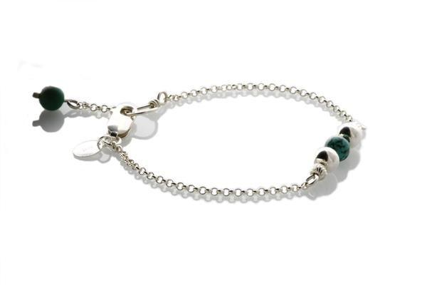 Sterling Silver Natural Turquoise Minimalist Bracelet - KTC-316t - Kalitheo Creations