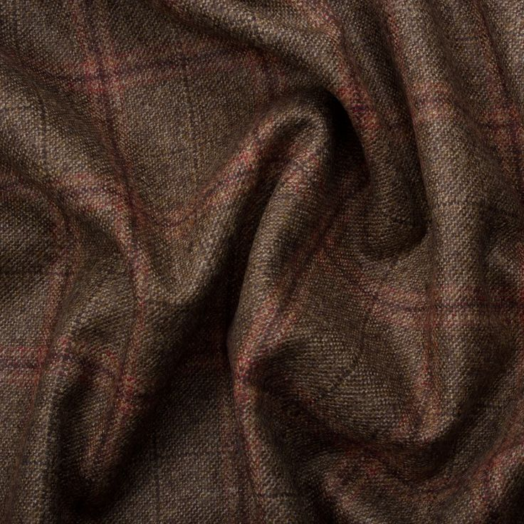BROWN TONE WOOL/CASHMERE TWEED BY SCABAL