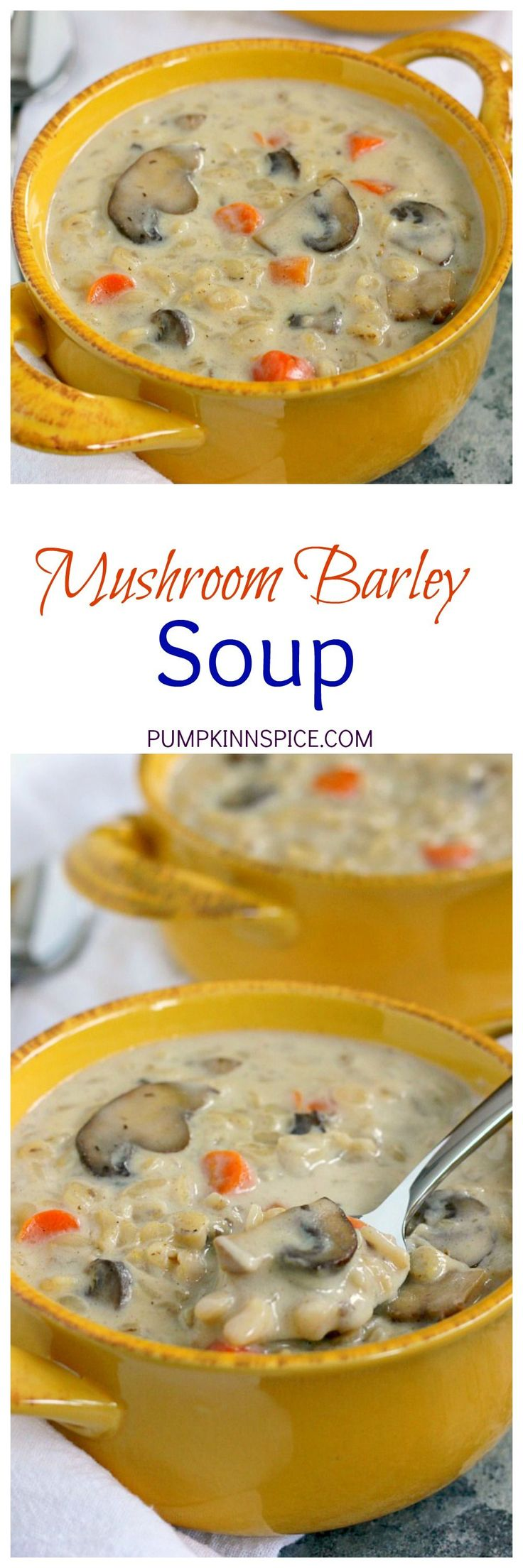 This Mushroom Barley Soup is packed with flavor and is ready in just 30 minutes. Featuring tender mushrooms and barley in a rich and creamy broth, this soup is perfect for busy weeknights!