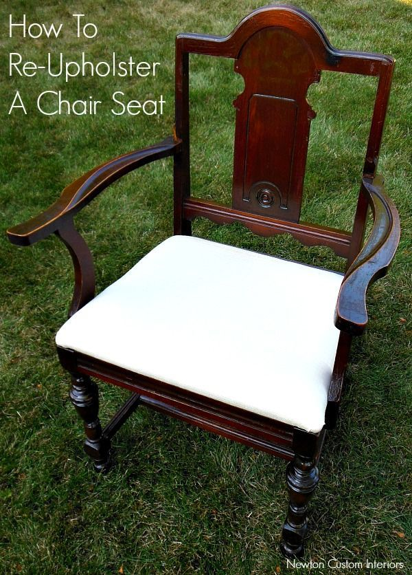 how to re upholster a chair seat from. Black Bedroom Furniture Sets. Home Design Ideas