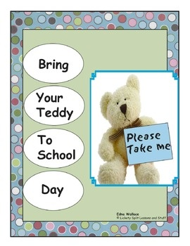 Perfect warm and fuzzy End-Of-School activities!  Lots of LITERACY activities in this 22 page thematic unit.  Build a bear hospital, host an academy awards, go on a bear PICNIC and a HUNT, VOTE for favorites graphing activity, CREATE a 6-page book parents will LOVE!