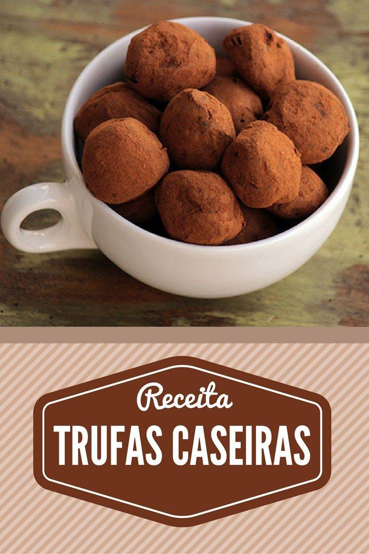 Trufas Caseiras Prepare trufas de chocolate caseiras feitas com ingredientes de qualidade, daquelas que derretem na boca. Elas também são uma ótima opção para presentear na Páscoa.