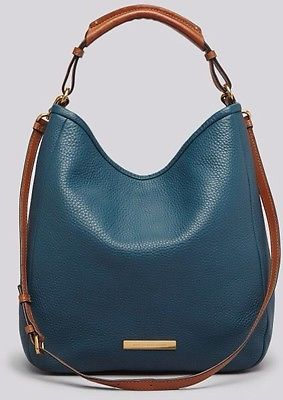 Marc by Marc Jacobs $468 Softy Saddle Large Hobo Bag in Prussian Blue Teal | eBay