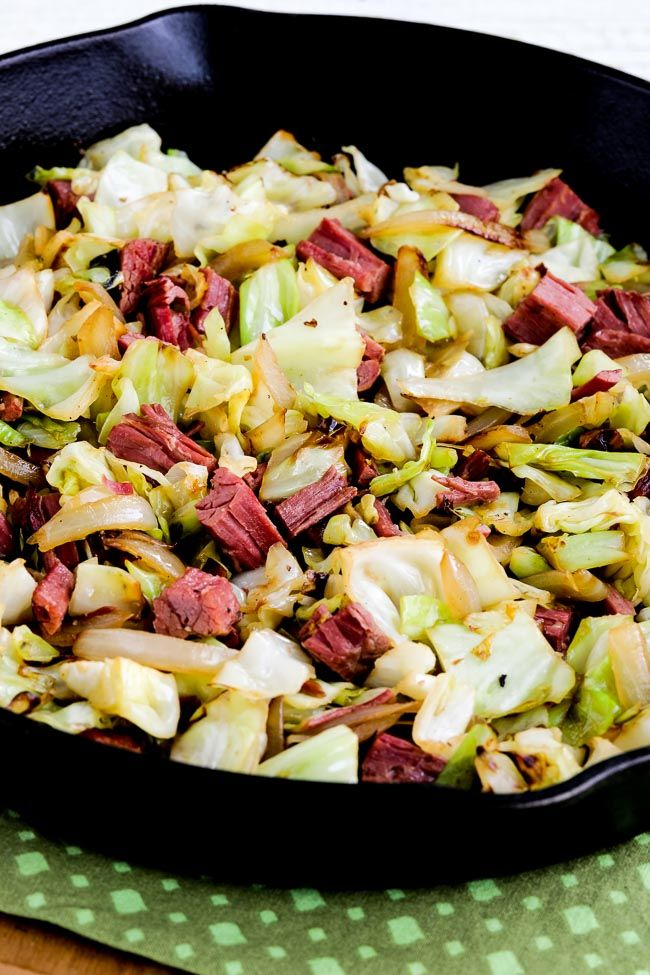 If you happen to find yourself with some leftover corned beef next weekend, grab a head of cabbage and make this tasty four-ingredient Low-Carb Fried Cabbage with Corned Beef! This recipe is low-carb, Keto, gluten-free, dairy-free, and low-glycemic; use the Diet-Type Index to find more recipes like this one! Click here to PIN Low-Carb Fried Cabbage…