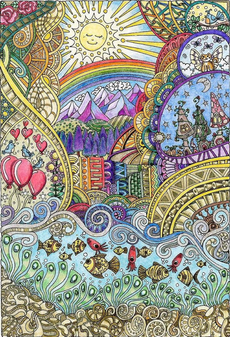 A fun magic coloring book amazon - Amazon Com Creative Haven Insanely Intricate Entangled Landscapes Coloring Book Adult Coloring