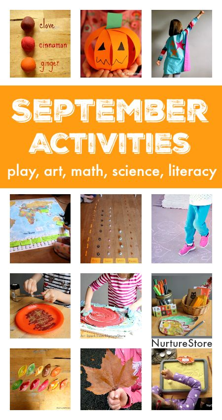September activity plans :: fall crafts and activities :: things to do with kids in September :: seasonal activity calendar :: fall homeschool plans