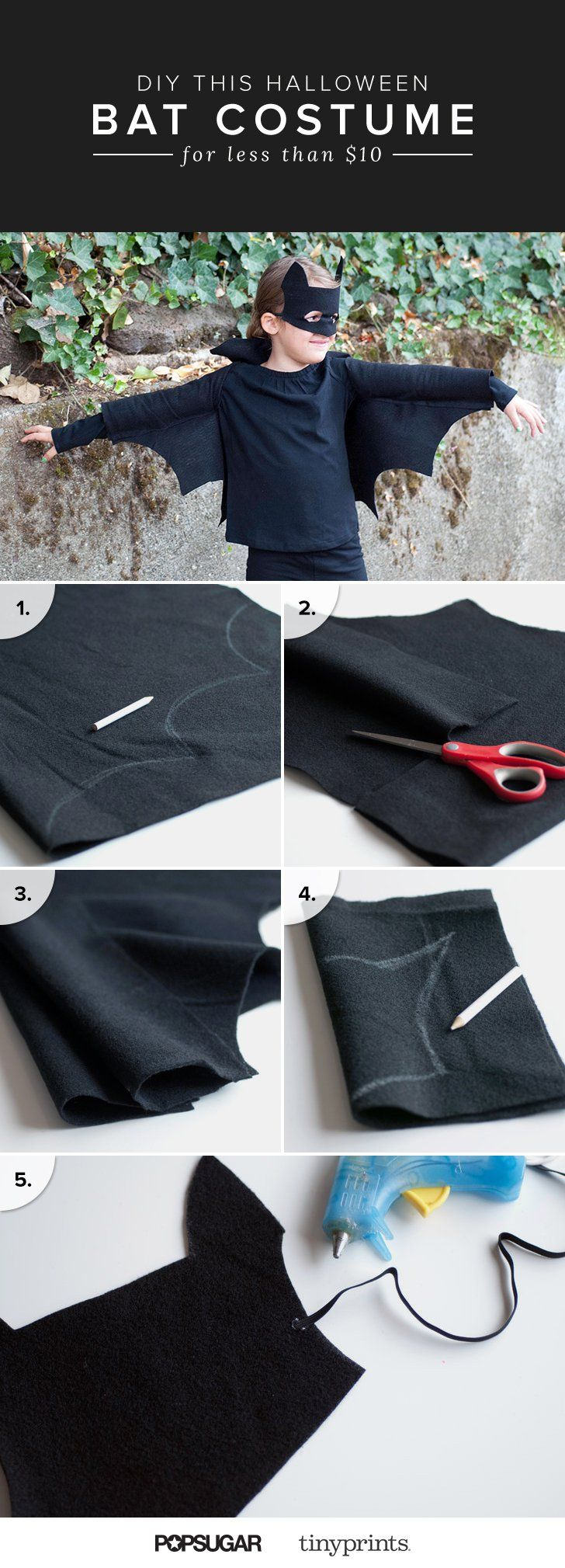 Pin for Later: DIY This Halloween Bat Costume For Less Than $10