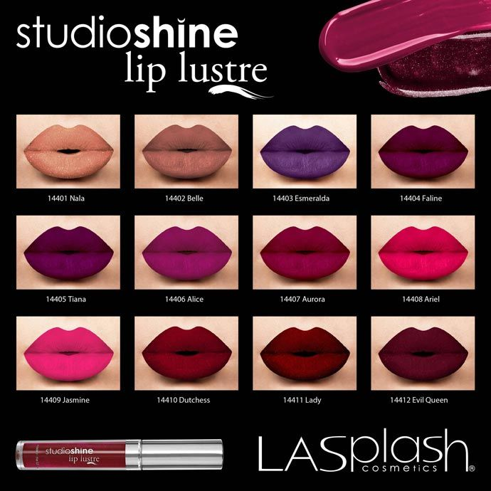 LASplash Linha Studio Shine LipLustre Batons de personagens da Disney
