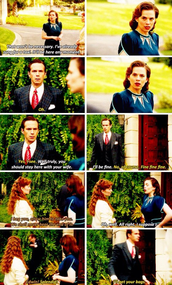 Edwin Jarvis and his puppy face and leap of joy <3 haha