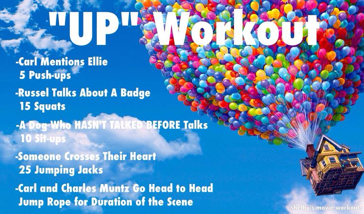 """UP"" movie workout. This and Tangled will be probably my favorite.."