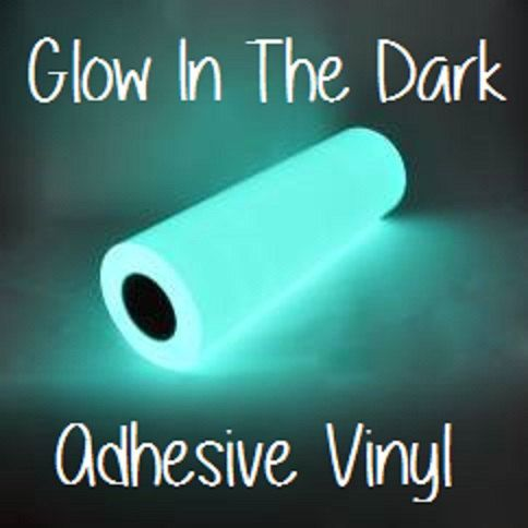 Glow In The Dark Adhesive Vinyl 12x12 by CraftSupplyCarolina