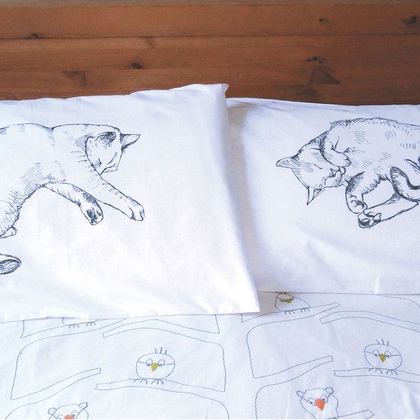 Cat Nap Pillow Cases @Melissa Squires Squires Marion