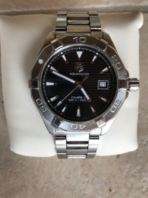 TAG Heuer Aquaracer Automatic WAY2110.BA0910 Black Dial Steel Watch for Men
