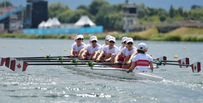 Canada wins silver in women's eight Olympic rowing