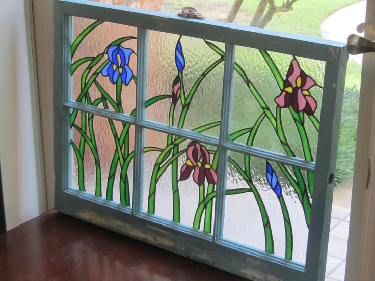 144 Best Images About Stained Glass In Old Window Frames