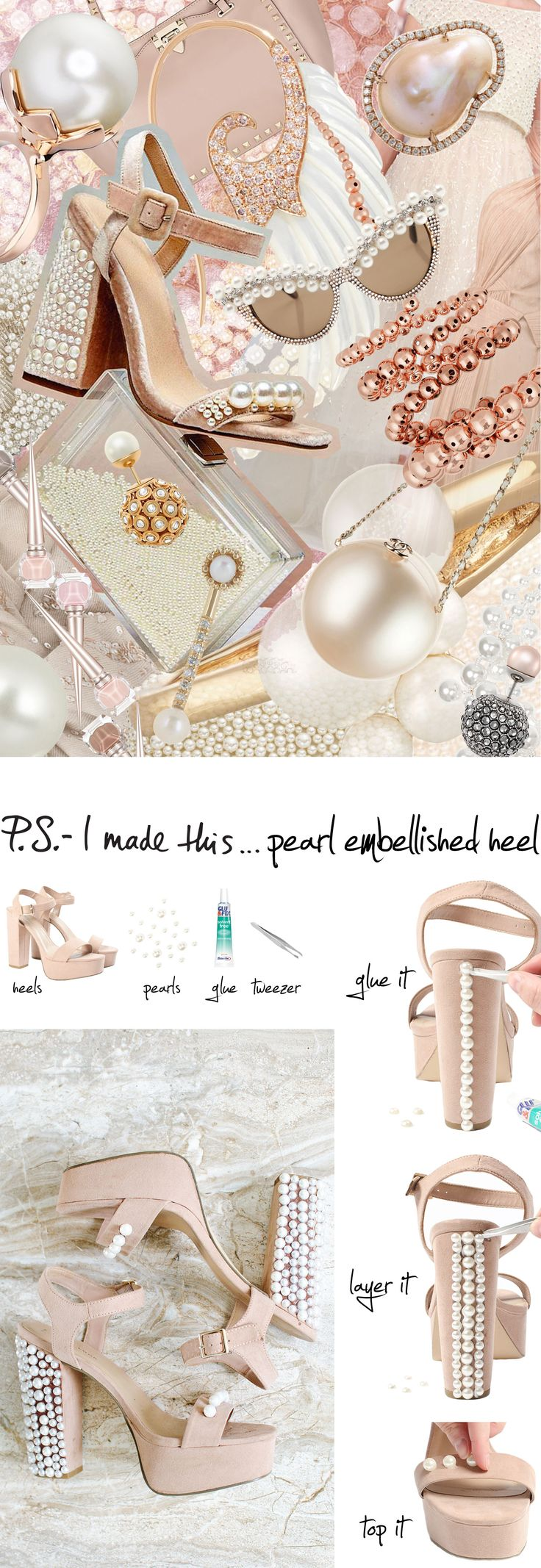 P.S.-I made this...Pearl Embellished Heel #PSIMADETHIS #DIY