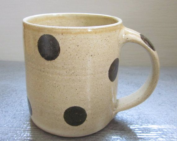 super cute. i want this. jdwolfepottery on etsy: Dreams Houses, Polka Dots, Memorial Mugs, Dr. Oz, Large Polka, Kitchens Dreams, Dots Coffee, Coffee Mugs, Barnbugstudio Polka
