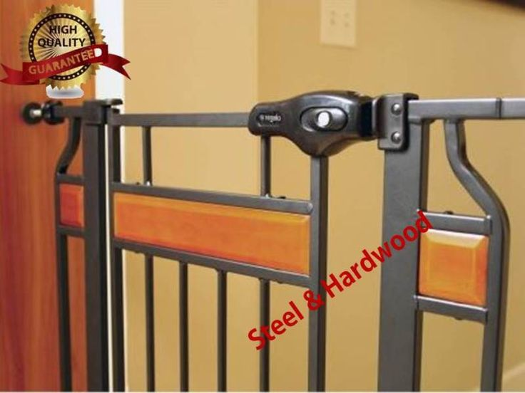 Baby gates for stairs tall safety lock steel security wide