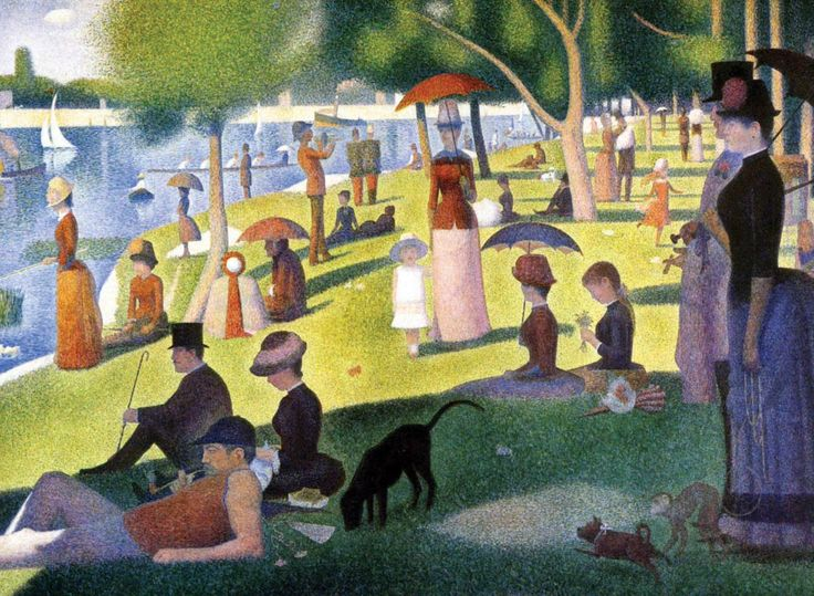 A Sunday Afternoon on the Island of La Grande Jatte, Georges Seurat, 1884-1886
