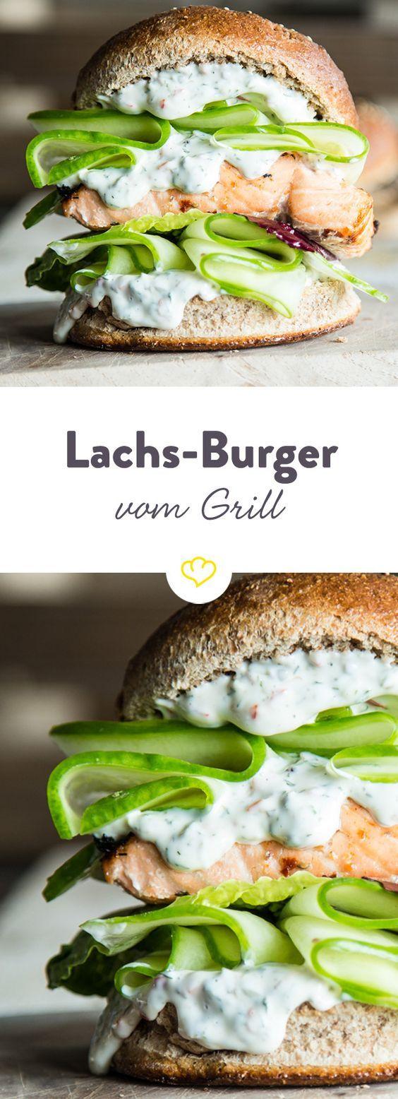 Hochstapler: Lachs-Burger vom Grill mit Chili-Dill-Mayonnaise – Marianne Diebow