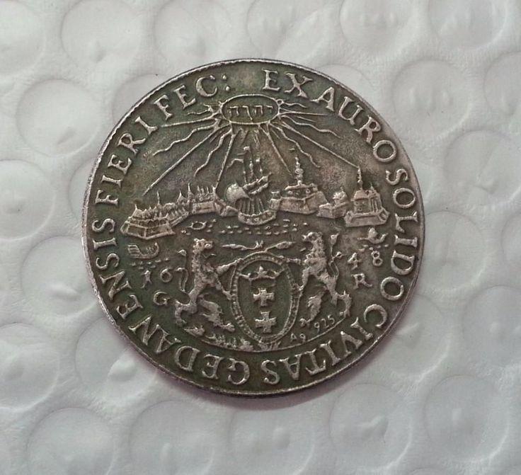 1648 Poland 1 Thaler King Wladyslaw IV Antique Silver Commemorative Coin