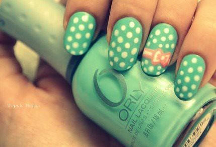 :): Hair Nails Beautiful, Nails Design, Shabby Chic, Bows Nails, Polka Dots Nails, Pink Bows, Nails Polish, Nails Art Design, Fingers Nails