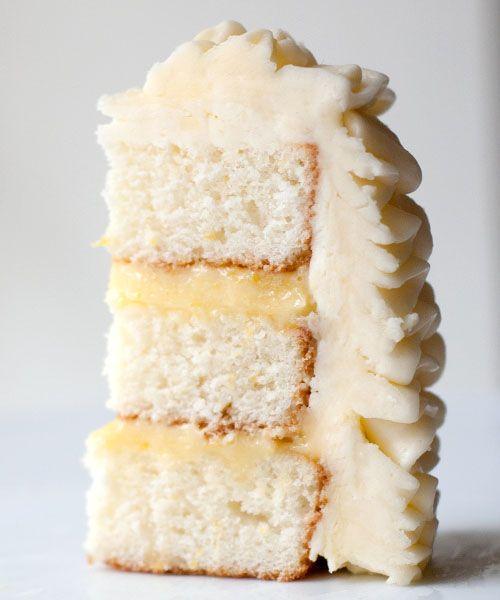 lemon cake with lemon curd & swiss meringue buttercream