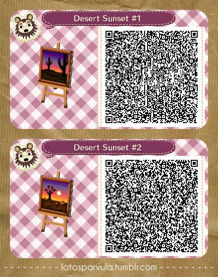 Desert Sunsets Ac New Leaf Qr Codes Acnl Qr Code Qr