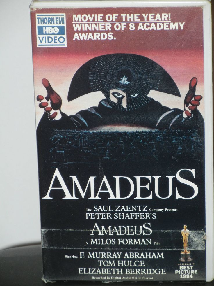 Amadeus VHS Movie Starring Thomas Hulce as Wolfgang Amadeus Mozart and Simon Callow Roy Dotrice Christine Ebersole Jeffrey Jones Charles Kay by GailsPopCycle on Etsy