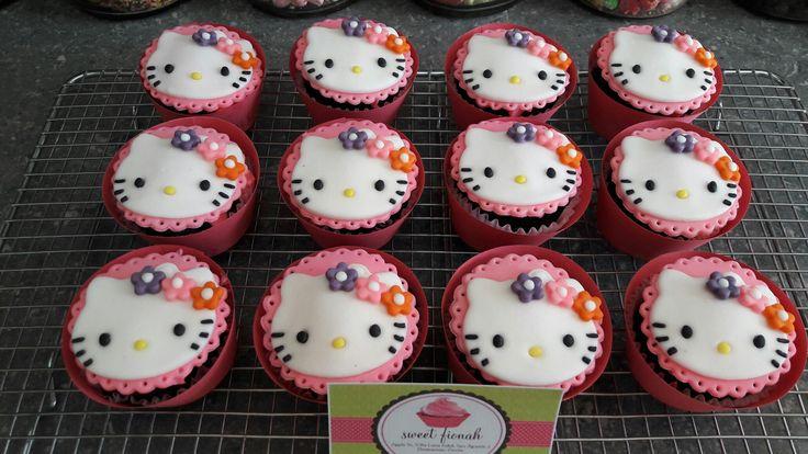 Hello Kitty cupcakes  #HelloKitty #cupcakes #SweetFionah