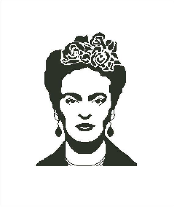 Buy 2 Get 1 Free-Frida Kahlo cross stitch pattern-Modern cross