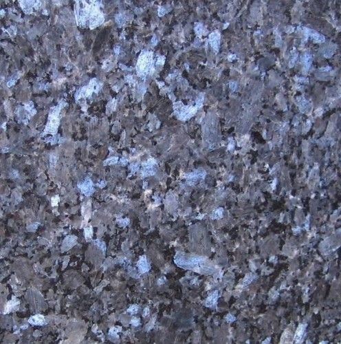 Blue Pearl Granite Slab- love love love this for a blue and white kitchen!