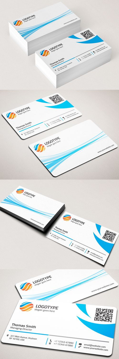 Best Design Images On Pinterest Business Card Design - Rounded corner business card template