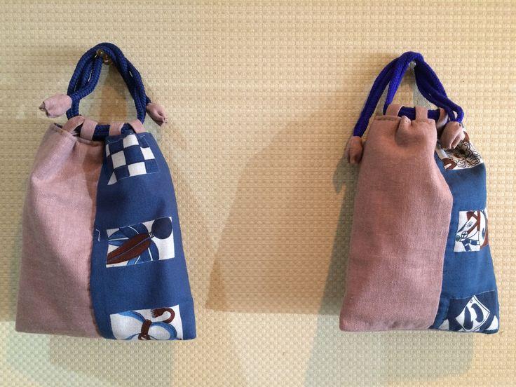 Kinchaku twins - Pink/Blue