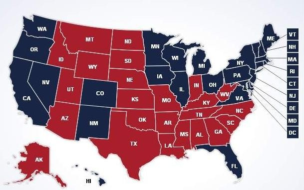 Immigration Reform will be bonanza for Democrats changing political landscape for a generation--electoral map 2012