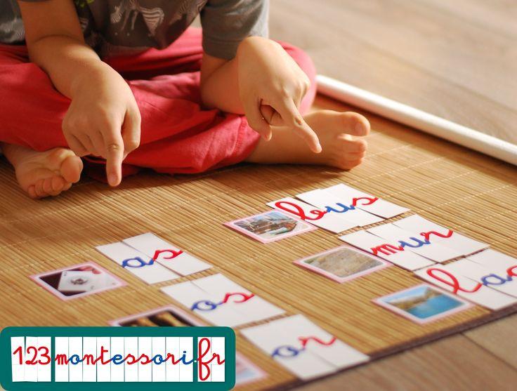 Lettres mobiles Montessori (jeu de 270 lettres imprimées sur papier bristol pour…