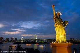 the statue of liberty. liberty island.