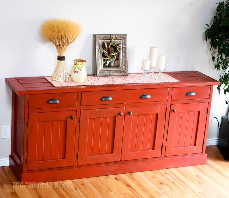 What I want for my tv stand!! Rustic Planked Wood Sideboard | Do It Yourself Home Projects from Ana White