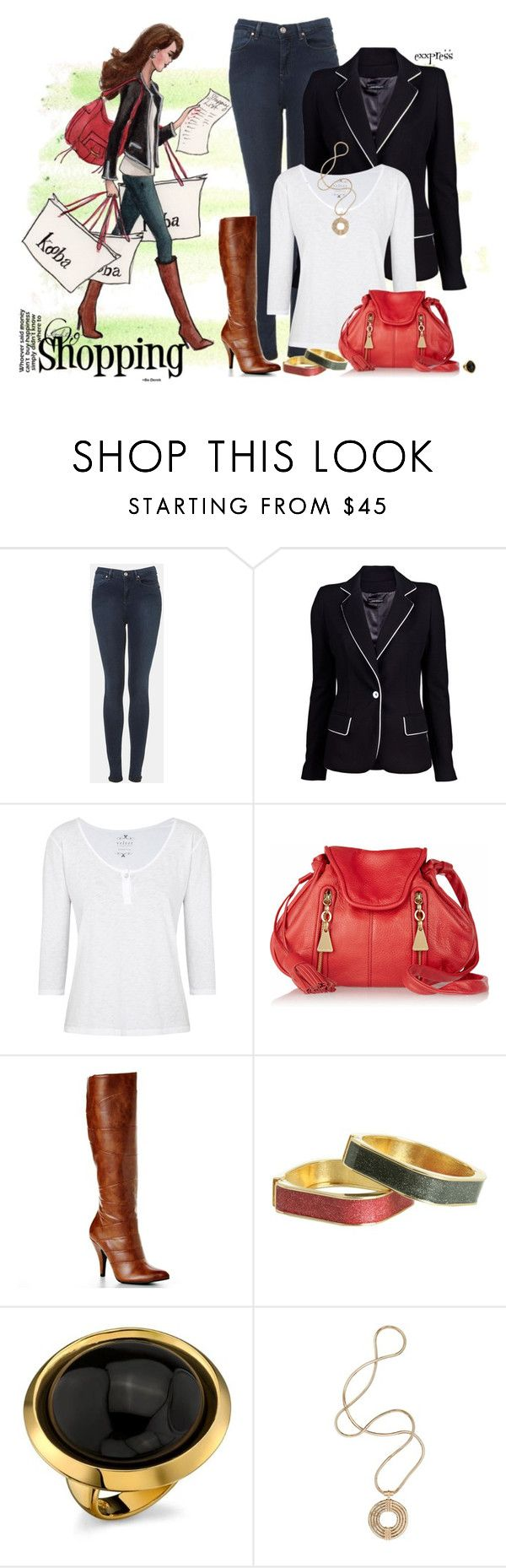 """""""Chic Girl says Let's Go Shopping"""" by exxpress ❤ liked on Polyvore featuring Topshop, Plein Sud Jeanius, Velvet, See by Chloé, Apt. 9, Betsey Johnson, House of Harlow 1960, Lara Bohinc and inslee"""