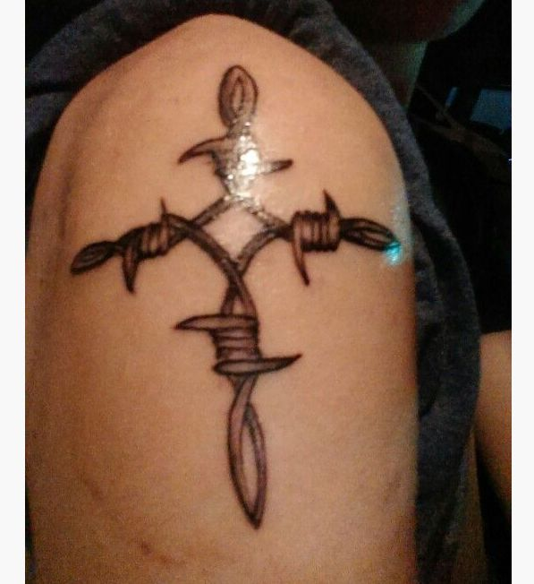 Western Cross Tattoo