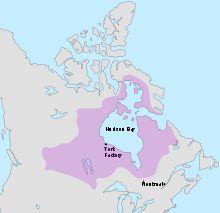 Hudson's Bay map, 'Ruperts Land'