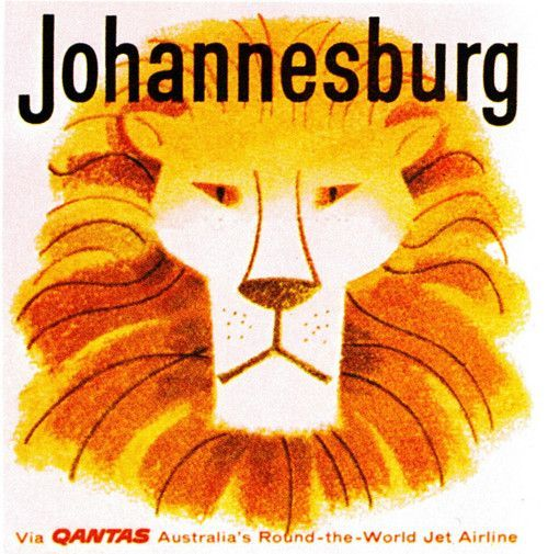 Qantas Johannesburg Airline Sticker BelAfrique - Your Personal Travel Planner www.belafrique.co.za